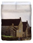 Women Going To The Woods Duvet Cover