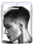 Women Portrait  Duvet Cover