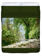 Wooded Riverscape Duvet Cover by Leopold Rolhaug