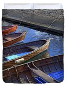Wooden Boats Duvet Cover