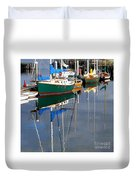 Wooden Ships On The Water Duvet Cover