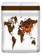 World Map 2b Duvet Cover
