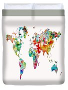 World Map 3b Duvet Cover