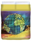 World Displayed Duvet Cover