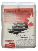 World War II Advertisement Duvet Cover