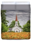 Worshiping Lilies 1 Duvet Cover