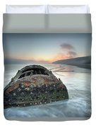 Wreck Of Laura - Filey Bay - North Yorkshire Duvet Cover