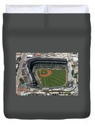 Wrigley Field In Chicago Aerial Photo Duvet Cover