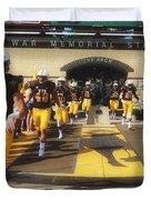 Wyoming Cowboys Entering The Field Duvet Cover