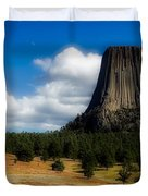 Wyoming's Devil's Tower Duvet Cover