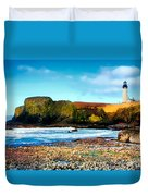 Yaquina Bay Lighthouse II Duvet Cover