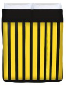 Yellow And Black Stripes Duvet Cover