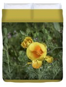 Yellow And Orange Poppy Duvet Cover
