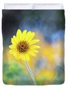 Yellow Arrowleaf Balsamroot  Duvet Cover