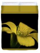 Yellow Clover Duvet Cover