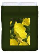 Yellow Evening Primrose Duvet Cover