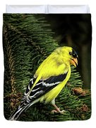 Yellow Finch Duvet Cover
