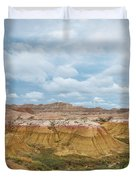 Yellow Mounds Of Badlands Np Duvet Cover