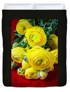 Yellow Ranunculus Duvet Cover