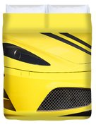 Yellow Stradale Duvet Cover