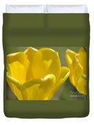 Yellow Tulips Duvet Cover
