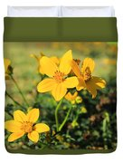 Yellow Wildflowers In A Field Duvet Cover
