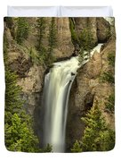 Yellowstone Tower Falls 2018 Duvet Cover