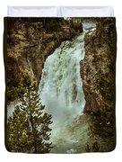 Yellowstone Upper Falls Duvet Cover