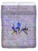 Yoga Asanas / Poses Sanskrit Word Art  Duvet Cover