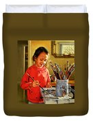 Young Artist Duvet Cover