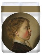 Young Boy In Profile Duvet Cover