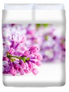 Young Spring Lilac Flowers Blooming Duvet Cover