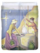 Young Women Of Provence At The Well, 1892 Duvet Cover
