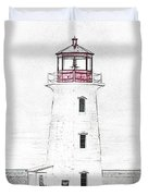 You're My Beacon Peggy's Cove Lighthouse Duvet Cover
