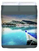 Zaante Town, Zakinthos Greece Duvet Cover