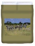 Zebra Group Duvet Cover