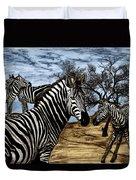 Zebra Outback  Duvet Cover