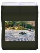 Zen Garden At A Sunny Morning Duvet Cover by Ulrich Schade