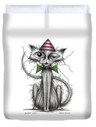 Zippy Cat Duvet Cover