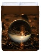 10-17-16--8590 The Moon, Don't Drop The Crystal Ball, Crystal Ball Photography Duvet Cover