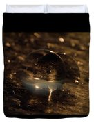 10-17-16--8634 The Moon, Don't Drop The Crystal Ball, Crystal Ball Photography Duvet Cover