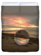 10-27-16--1918 Don't Drop The Crystal Ball, Crystal Ball Photography Duvet Cover