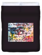 Abstract Calligraphy Duvet Cover