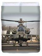 Ah-64d Apache Longbow Taxiing Duvet Cover