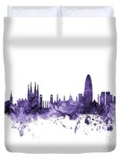 Barcelona Spain Skyline Duvet Cover