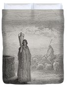 Engraving From The Dore Bible Duvet Cover