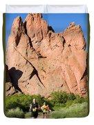 Garden Of The Gods Ten Mile Run In Colorado Springs Duvet Cover