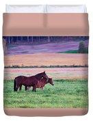 Horses Of The Fall Duvet Cover