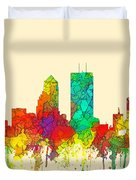 Jacksonville Florida Skyline Duvet Cover