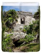 Mayan Temples At Tulum, Mexico Duvet Cover